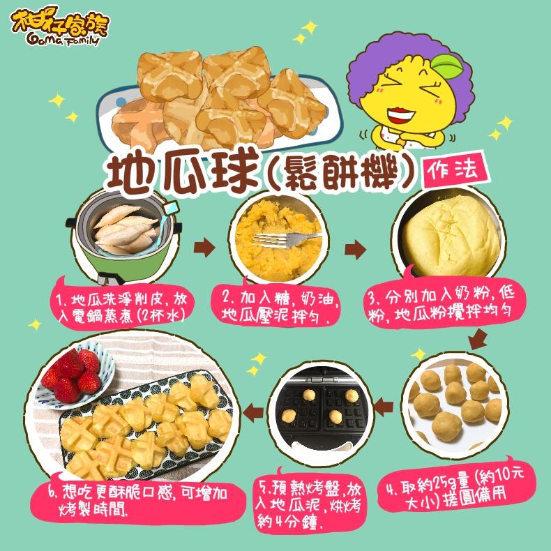 鬆餅機地瓜球自製食譜