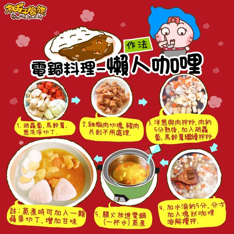 電鍋料理懶人咖喱