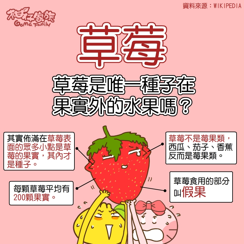 草莓是唯一子在皮外面的食物