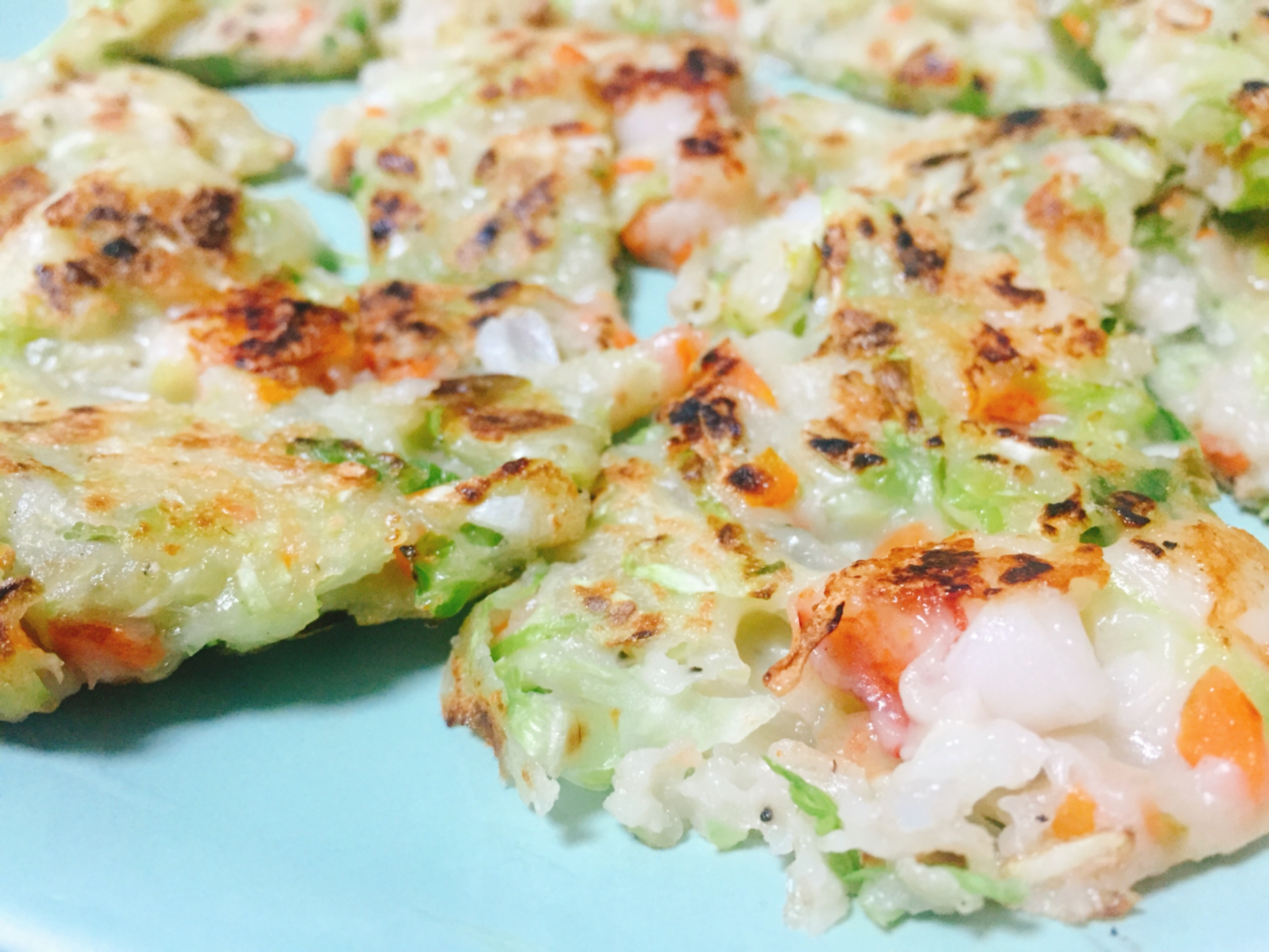 韓式蔬菜海鮮煎餅完成